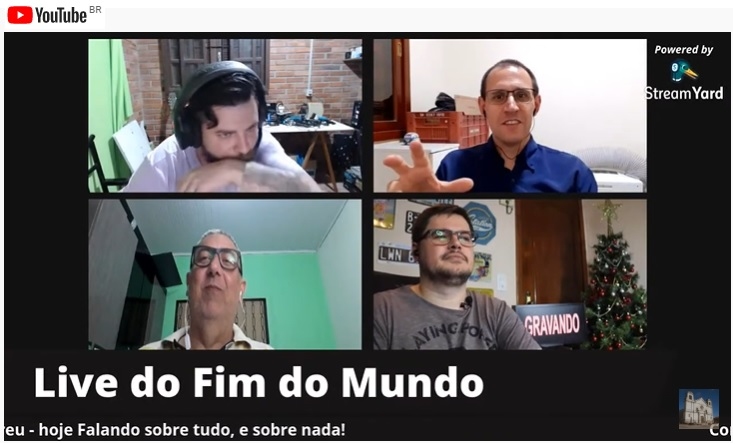 A Live do Fim do Mundo passa a ser transmitida no Youtube
