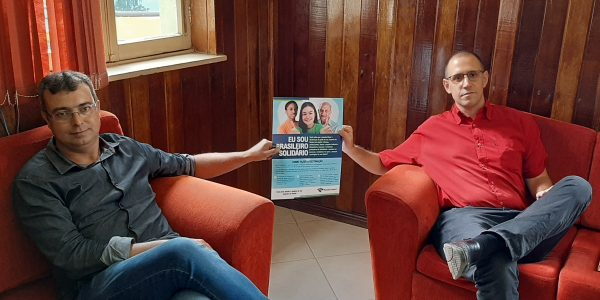 Agente da Receita Federal em Caçapava do Sul reúne-se com o prefeito de Santana da Boa Vista